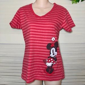 Disney Store Ladies Medium Minnie Tee Short Sleeve
